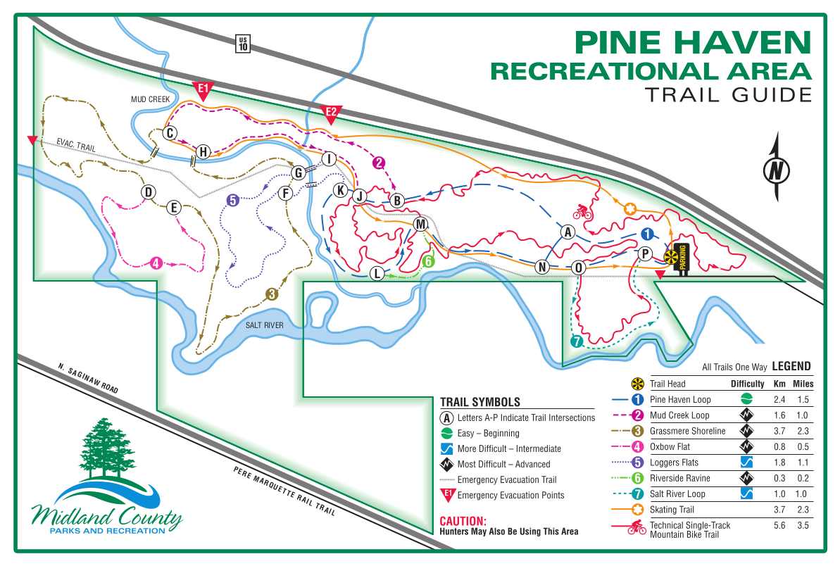 Pine Haven Recreation Area Map